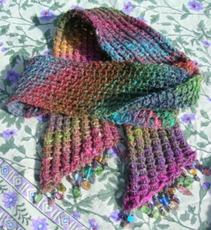 Crochet Fringe On Knitted Scarf Only New Crochet Patterns